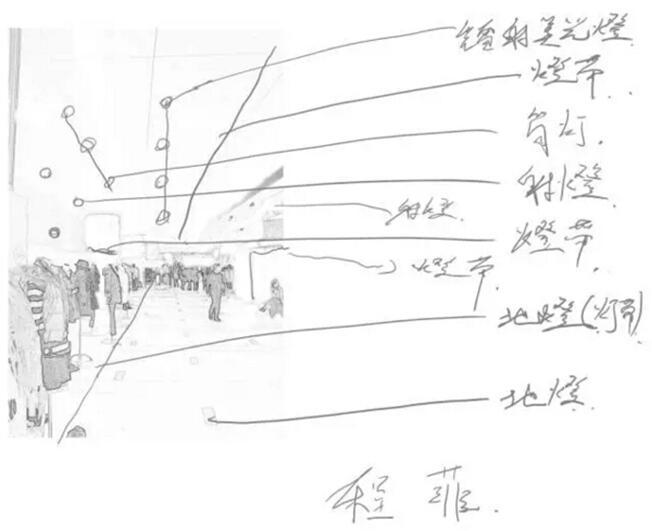 古代照明手绘线稿